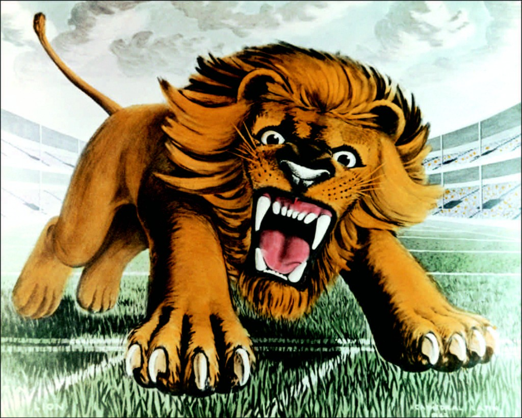 Charging_lion_on_football_book